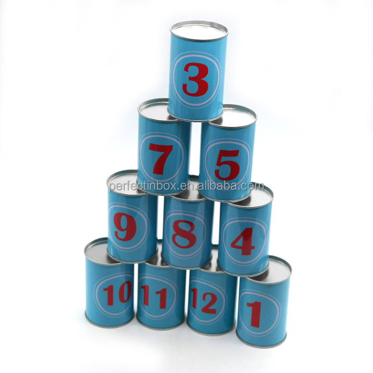 Throwing Games metal tin can toys for kids can offer sandbag