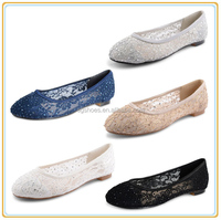 Womens Ladies Ballerina Ballet Pumps Flat Lace Diamante Bridal Shoes Size