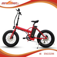 "mini fat tire folding electric bicycle 20"" smart pedal assistant electric bike"