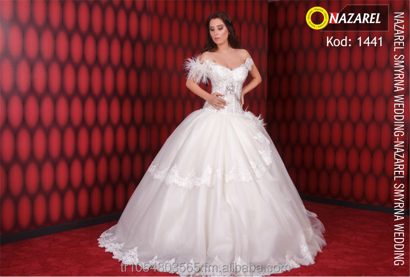 2014 Model Gorgeous Wedding Dress designed by Nazarel