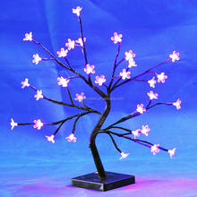 32L LED muticolor light S shape cherry blossom tree light