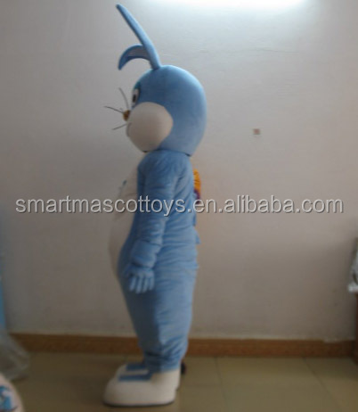 Life size walking adult rabbit mascot costume easy wear rabbit mascot