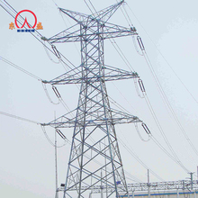 33kv sheet steel electric power transmission line lattice tower
