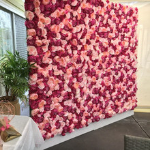 Fashion Ivory wedding hydrangea artificial flower wall decoration for party stage backdrop decorative flore wholesale