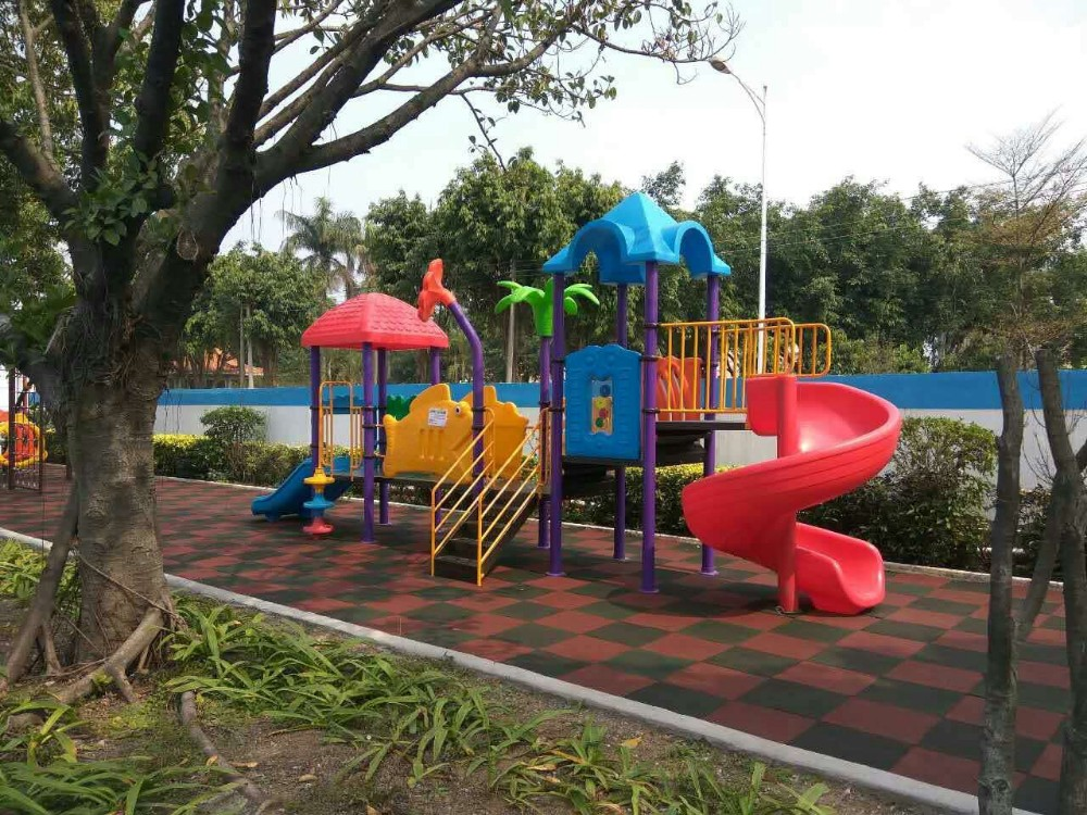 Colorful adventure playground outdoor games for kids