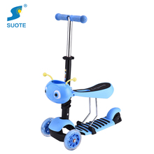 Wholesale new style cheap cute cartoon kids child 3 wheel children kick scooter with seat