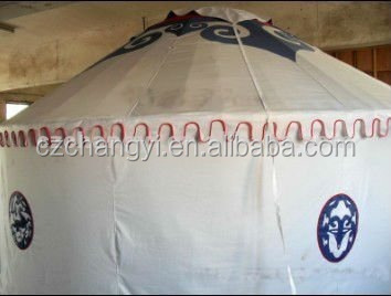 New Brand Big Canvas Mongolian Yurt For Family Living/Travel With Toilet