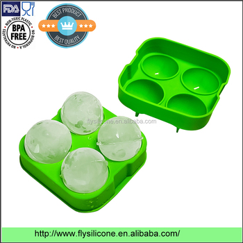 2017 Hot Sale Silicone Ice Ball Maker, Food Grade Silicone Ice Ball Mold