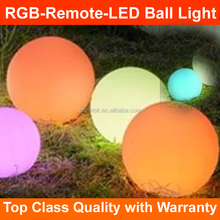 2018 Plastic Christmas decoration led lighting floating decorative ball lamp outdoor RGB Remote control glowing PE ball