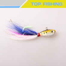 Superior Quality Bucktail Jig Minnow Jig For Fluke Fish