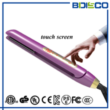 custom private label LCD display touch screen flat irons hair straightener