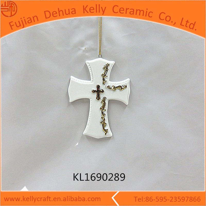 Gold plating Christmas hanging wholesale wall crosses home decoration