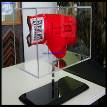 Custom clear acrylic plexiglass boxing glove display box