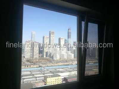Aluminum Inward Tilt and Turn Windows/Wood Grain Finish Aluminum Window