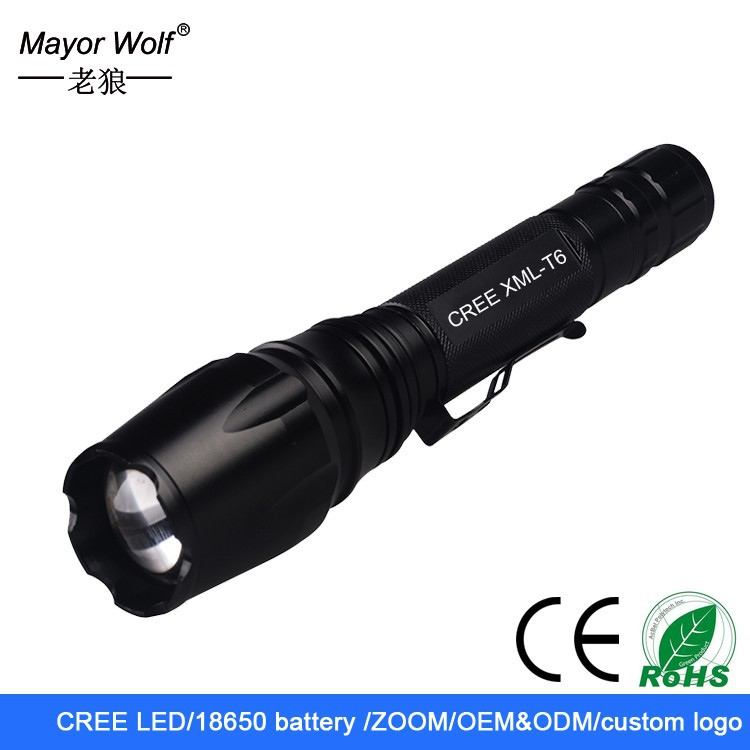 2015 hot selling Long Range rechargeable XM-L2 <strong>U2</strong> zoom Police led <strong>flashlight</strong>