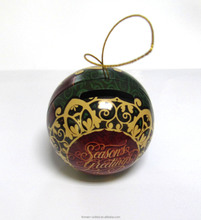 Ball shape wedding candy packing tin