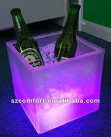 led purple color can bottle coolers, led stackable ice bucket