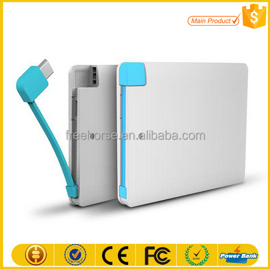 super slim 4000mah mobile phone charger name card power bank credit card size