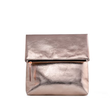 Mirror PU Leather Professional Travel Rose Gold Makeup Bag