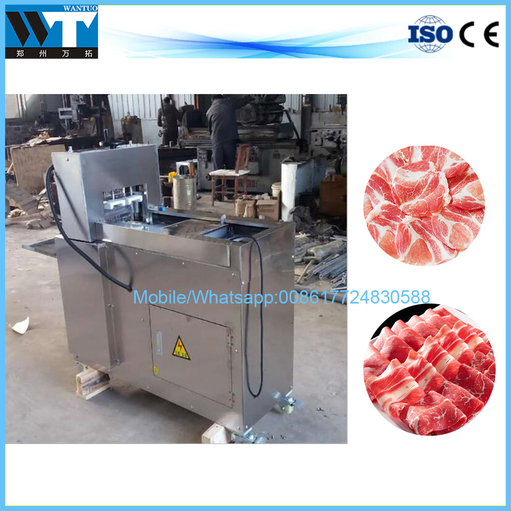 Stainless steel full automatic beef and mutton meat slicing machine for sale