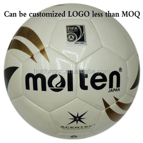 Factory Wholesale Top Quality Custom printed official size 5 eco friendly Microgroove PU Molten match Soccer ball/Football ball