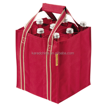 shaped fabrics printed hot wine bag cotton bag bottles with custom design