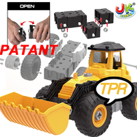 JK TOYS Premium quality kids assemble diy truck toys with TPR Soft wheel