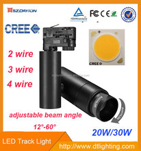 SAA/CE/ROHS approvalled gallery led track lighting 20w 30w cob LED track light