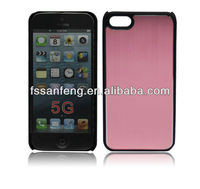 2 in 1 aluminium sticker hard back cover case for iphone5 5gs