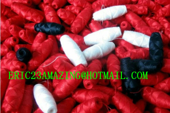 "Made in China FACTORY 100% Cotton Cocoon Bobbin for Schiffli Machine ""NO SHRINKAGE"" Multihead Embroidery 50S/2 60/2 70/2"