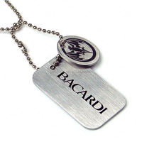 Custom blank anodized aluminum Steel Necklace dog tag