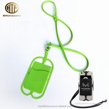 2018 new fashions silicone phone lanyards pocket pouch