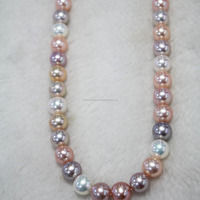 high luster fresh water pearl strand,blemish free surface