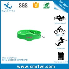 Shockproof silicone rfid wristband for water sports