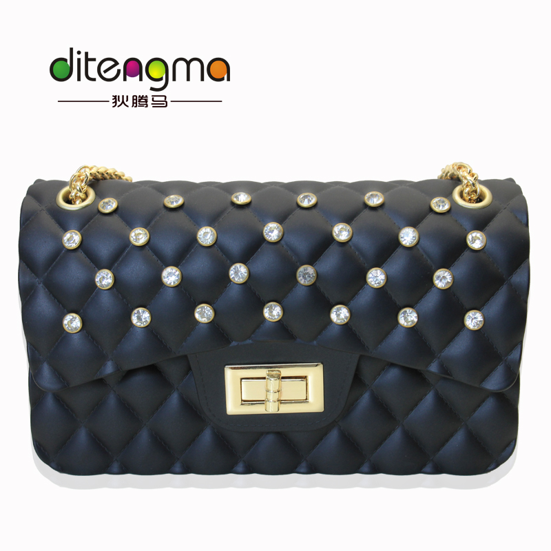 New Woman Fashion Color PVC Purses Jelly Fashion <strong>Handbags</strong> 2017 With Wholesale Price