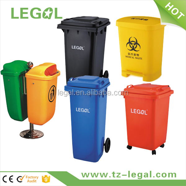 4 Wheeled Plastic Rubbish Dust Bin Plastic Wheel Bin