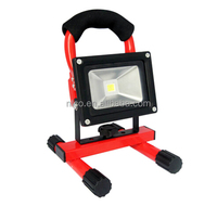 CE RoHS EMC Certification portable floodlight 10W 20W 30W rechargeable led work light with handle