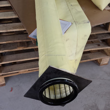 FMS 9803 material high temperature dry GCP dust collector filter bag for 350m3 blast furnace