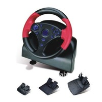 For pc-usb Force Feedback wired racing wheel with vibration/USB Vibration Racing Wheel with fore feedback FT3495