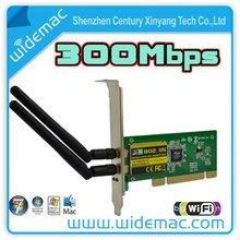 PCI 300Mbps 300M 802.11b/g/n Wireless WiFi Card Adapter for Desktop PC Laptop