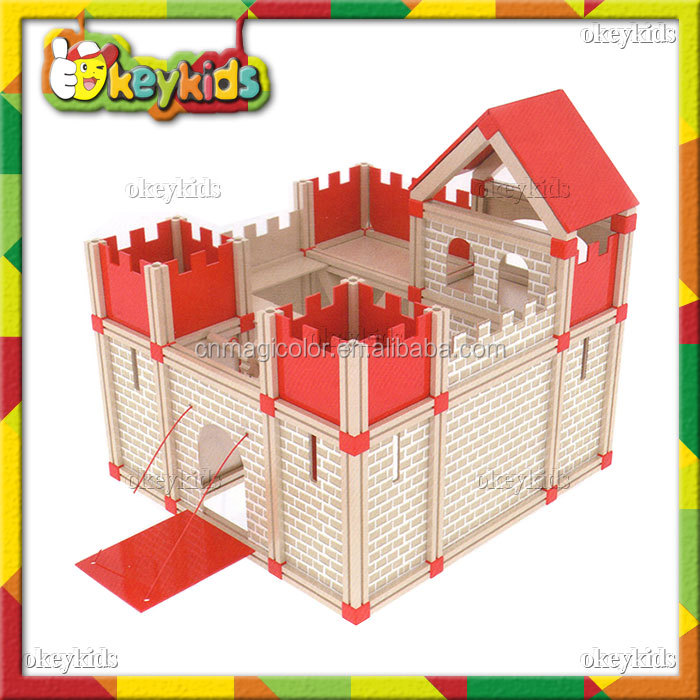 2016 wholesale baby wooden diy doll house,fashion kids wooden diy doll house,hot sale children wooden diy doll house W06A111