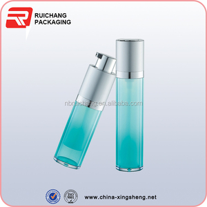 china high quality rotate cosmetic airless bottle double wall lotion pump bottle for personal skin care use