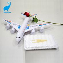20x20cm 100% Organic Cotton White Airline Towel Aviation Towel