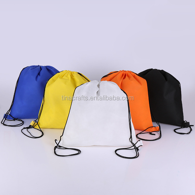 TOP sale trendy style drawstring non woven bag with rope