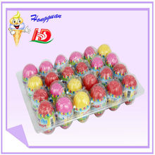 Chinese import plastic sweet light egg shape toy candy