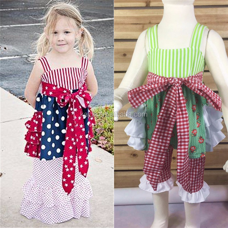 kL-OF-152 wholesale children's boutique clothing 4th of july clothes kids clothing wholesale