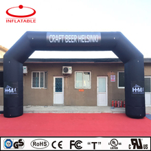 inflatable bicycle event entrance promotion arch with logo printing