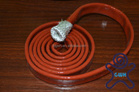 Silicone rubber coated fiberglas fireproof sleeving - ID 1/2""