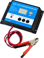 10A PWM solar charge controller 12V with dual USB port and LED light port