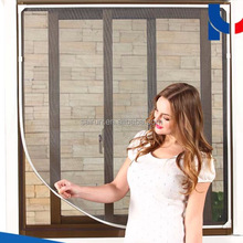 100% polyester DIY mesh insect protection screen for window/ magnetic mosquito net window colored